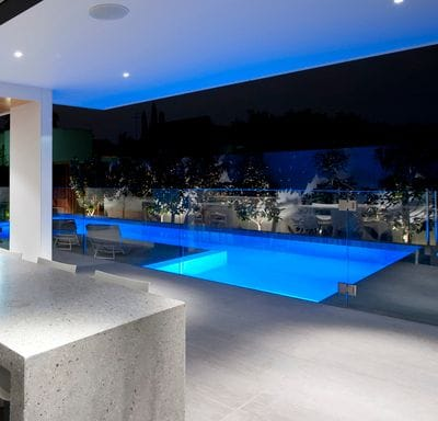 Pool lighting with Spa Electrics Blue led light