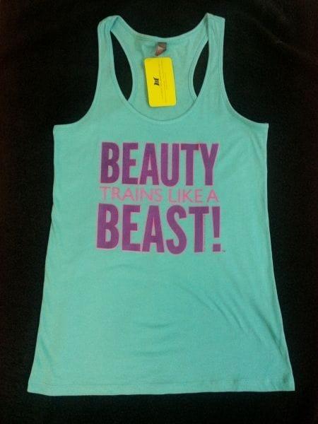 Beauty Trains Like A Beast - Aqua - S