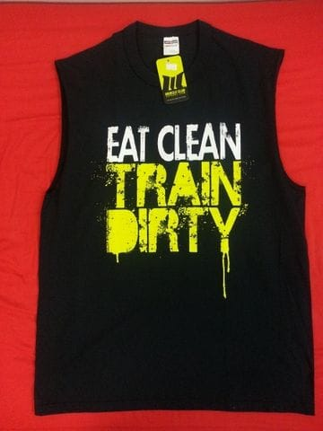Eat Clean Train Dirty (Black) XL
