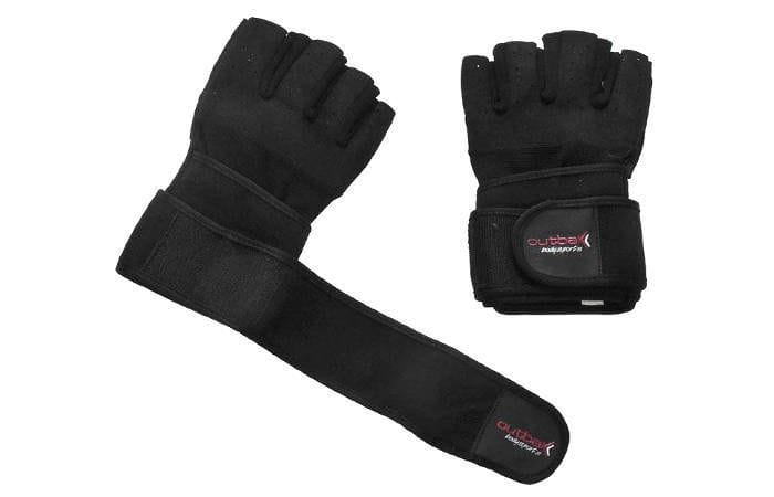 Bodybuilder Gloves with Wrist Wrap Black