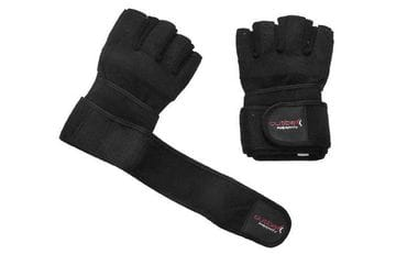 Bodybuilder Gloves with Wrist Wrap Black