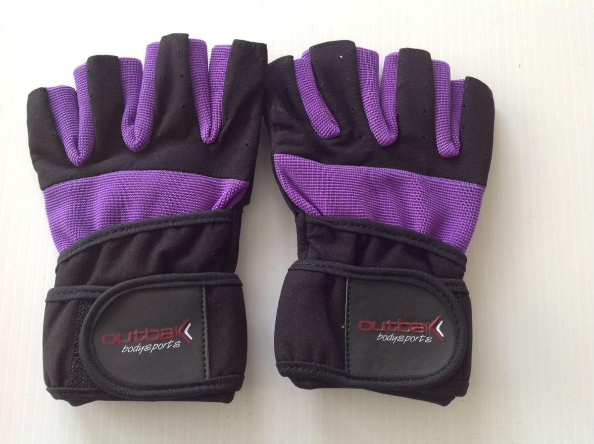 Bodybuilder Gloves with Wrist Wrap Purple