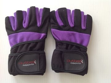 Bodybuilder Gloves with Wrist Wrap Purple