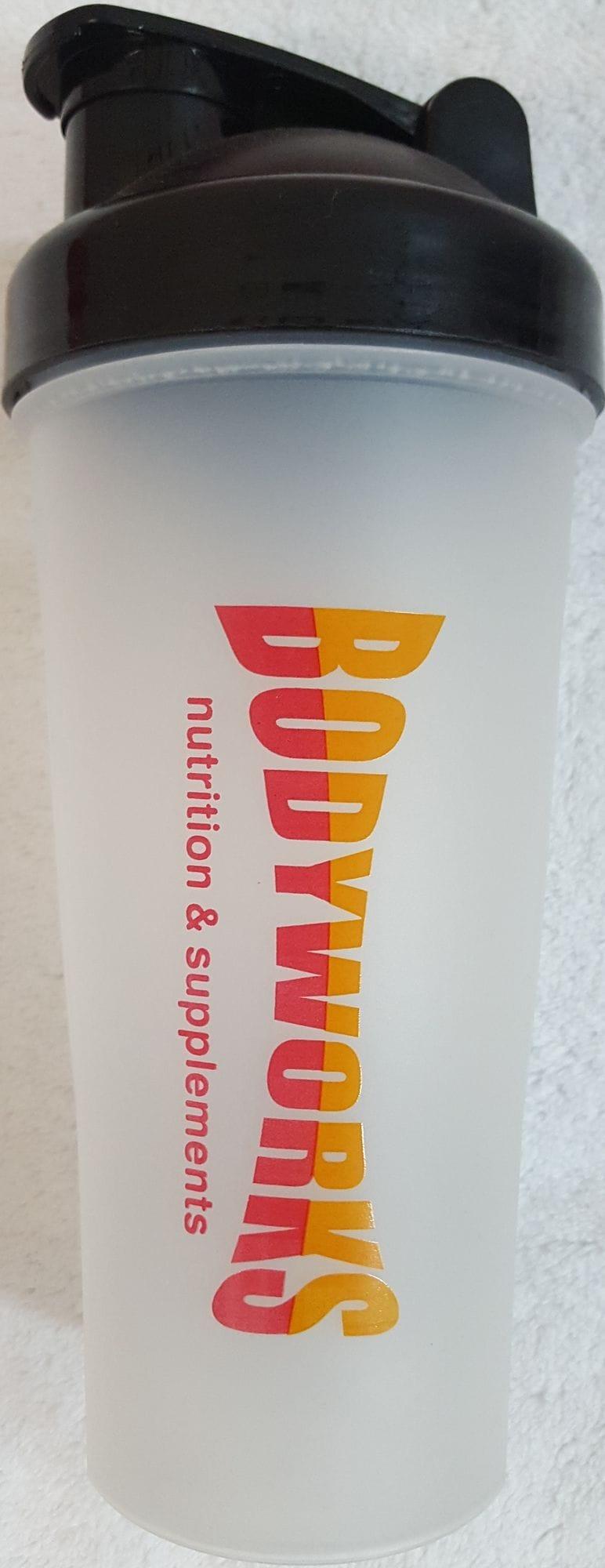 Bodyworks Plastic 600ml Protein Shaker
