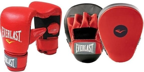 Everlast Glove Mitt Combo Set - Red