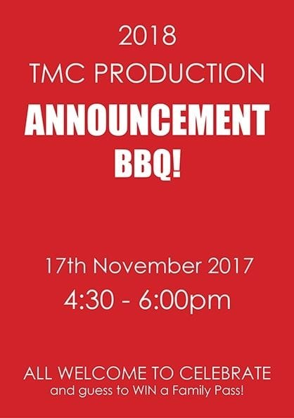 2018 Production Announcement BBQ