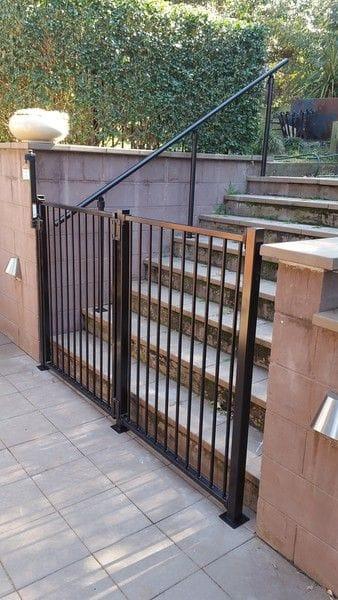 Denistone garden gate & stairway handrail