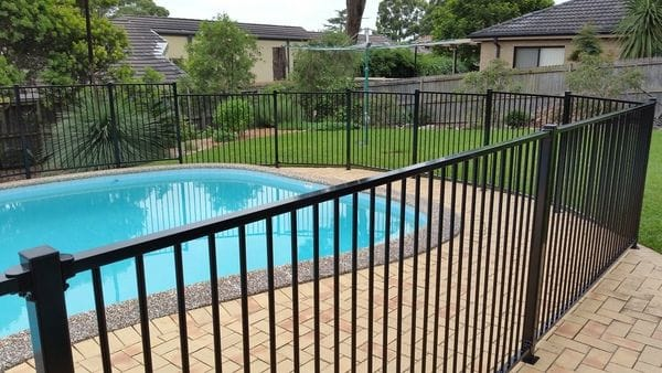 Carlingford_black alum pool fence