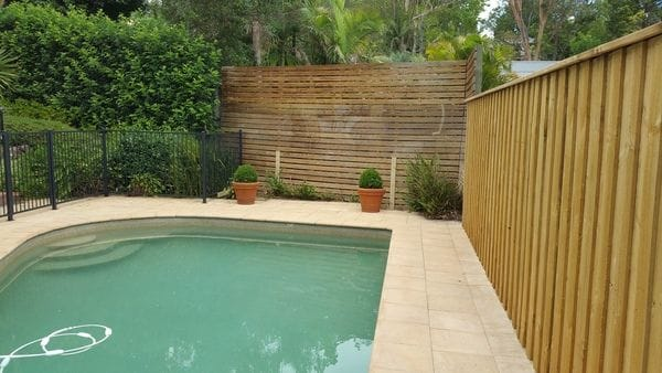 Wahroonga timber boundary & alum pool fence