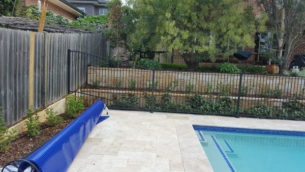 new Hornsby pool fence charcoal tubular