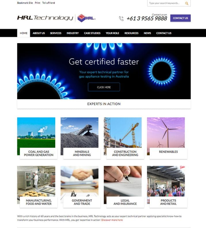 HRL launches customer centric website