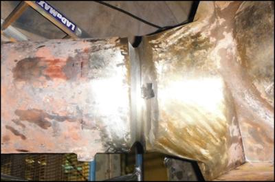 cracks in high pressure piping