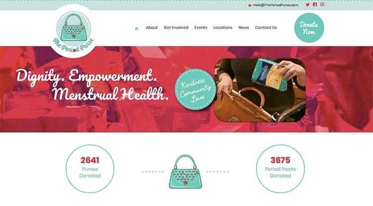 The Period Purse website