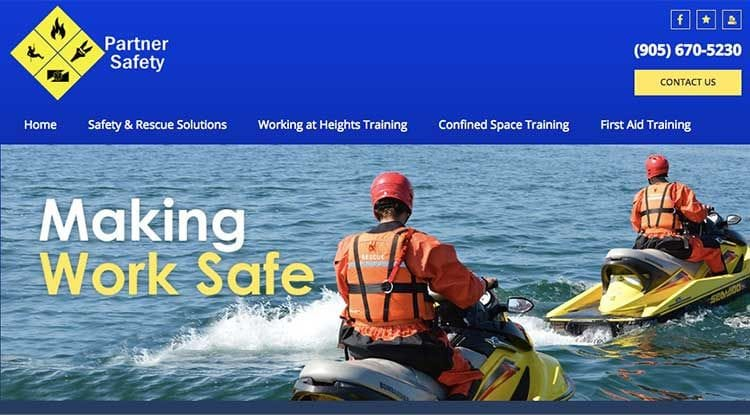www.partnersafety.ca website