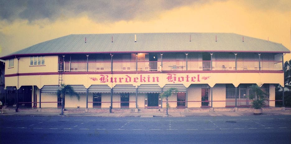 Old photo of the Burdekin Hotel