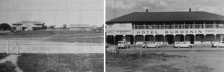 The Burdekin Hotel built by E A Hayes in 1913