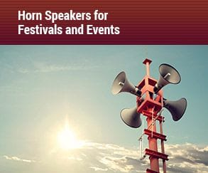 horn speakers for festivals and events, Audiomax