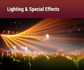 lighting and special effects, concert Audiomax