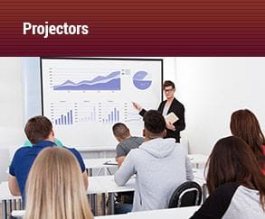 projectors, presentation inside office, Audiomax