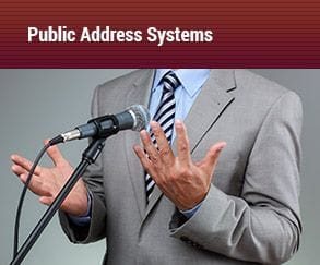 public address systems, male using microphone, Audiomax