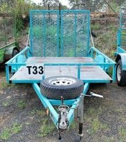 Dove Tail Trailer with Ramps 5.9ft (1.75m) x 9.10ft (3m)