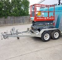 Scissor Lift Trailer 3.9ft (1.14m) x 6.10ft (2.1m)