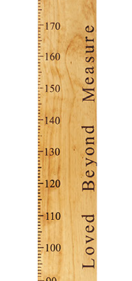 loved beyond measure wooden height chart