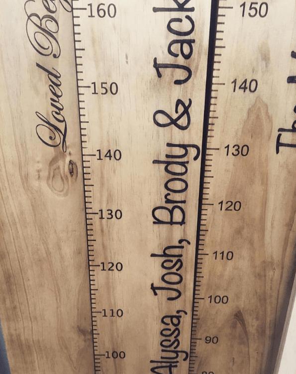 The Memento Height Chart