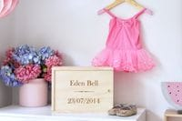 Baby Keepsake Box- Name & DOB