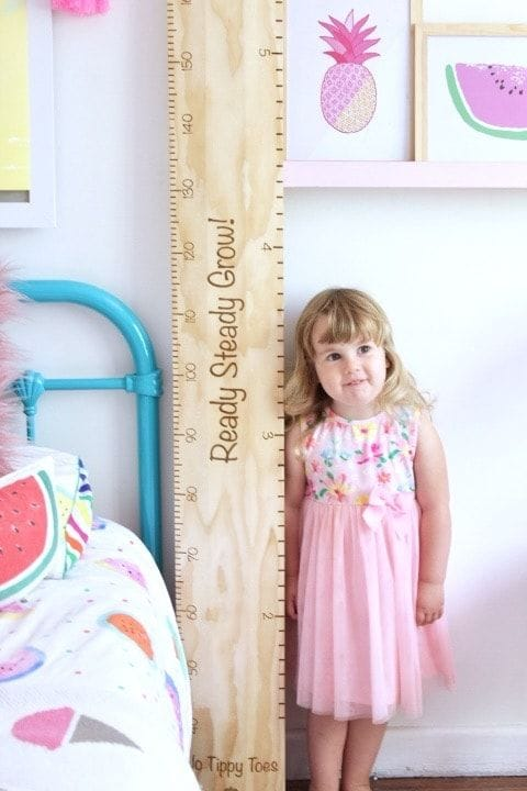 "The Old School Ruler Height Chart ""Ready Steady Grow!"""