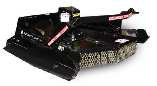 "Digga 1800mm (72"") High Flow Skid Steer Rotary Axe"