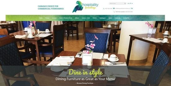 Hospitality Furnishings Website Launch