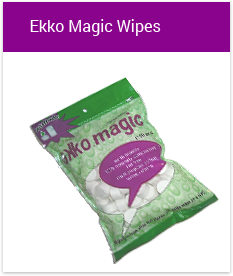 Groova products ekko magic wipes just add water
