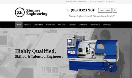 New Website Launched for Zimmer Engineering