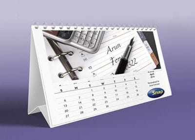 Custom personalised calendar design from Snap