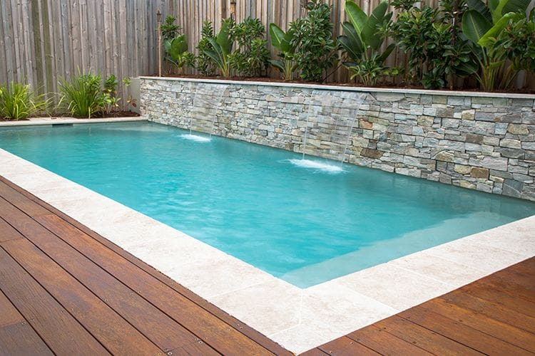 Timber Decking Around Coping. Dynamic Pool Designs Swimming Builders Award  Winning