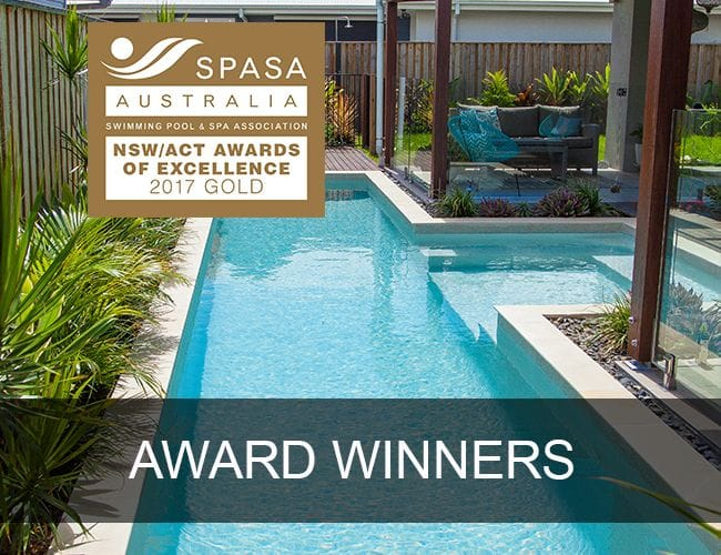 Swimming pool builders award winning concrete pools for Pool design gold coast