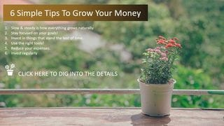 6 Tips to Grow Your Money
