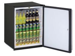 "Solid Refrigerator 24"" Lock Reversible Hinge Black 115v"