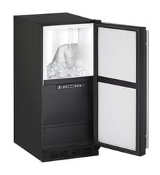 "Clear Ice Machine  15"" Reversible Hinge Black 115v"