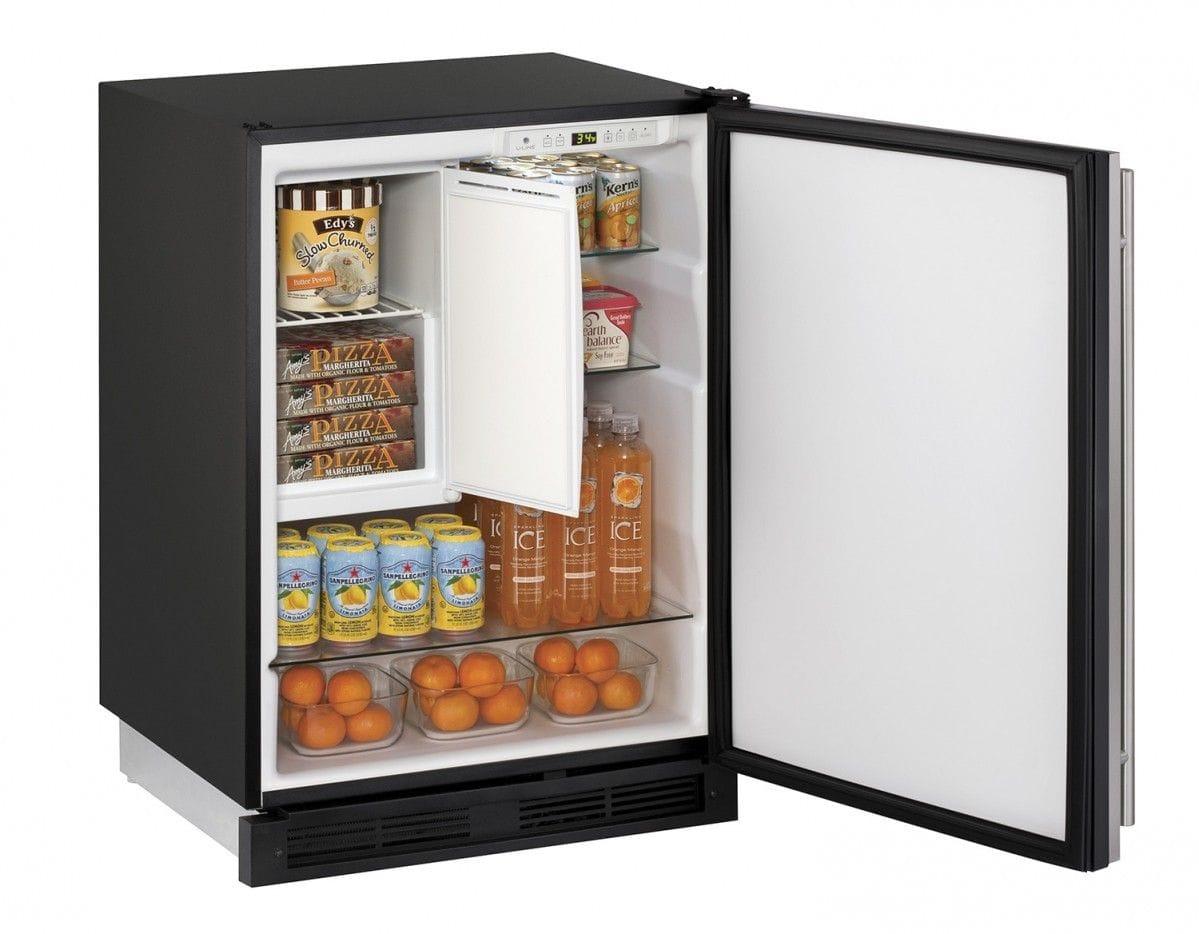 "Refrigerator Freezer 24"" Reversible Hinge Stainless 115v"