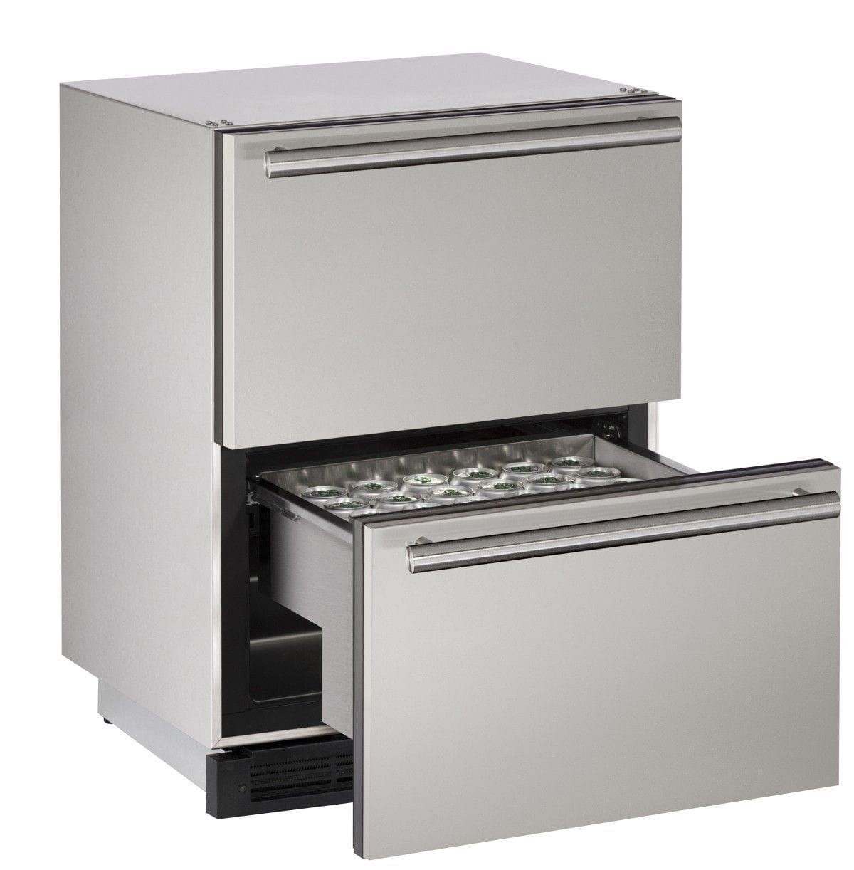 "Outdoor Refrigerator Drawer 24"" Stainless 115v"