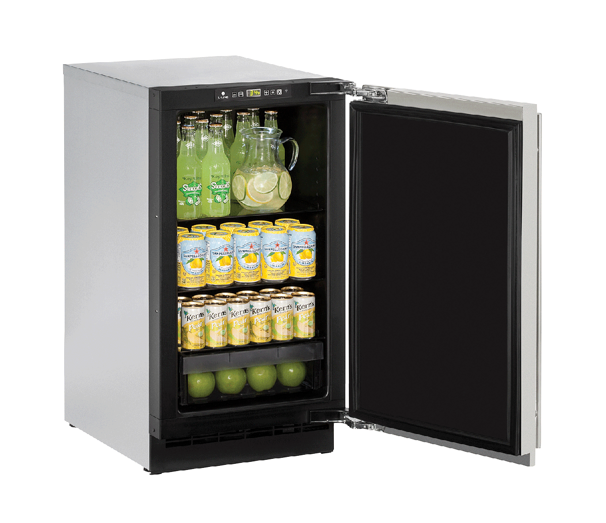 "Solid Refrigerator 18"" Reversible Hinge Stainless 115v"