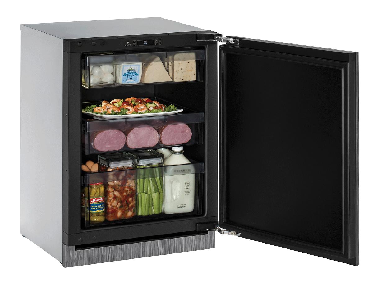 """Solid Refrigerator 24""""  Reversible Hinge Integrated 115v"""