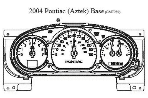 2003-04 PONTIAC (AZTEK) BASE GMT250