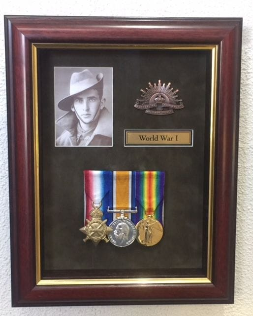 Master Picture Framers World War I medals
