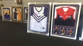 Master Picture Framers sports collectables