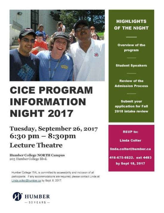 CICE Humber College Info Night