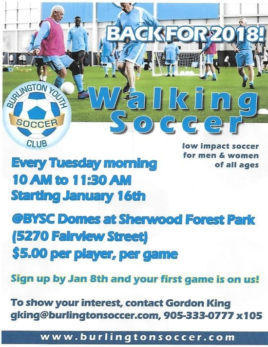 WALKING SOCCER FOR ALL AGES.....