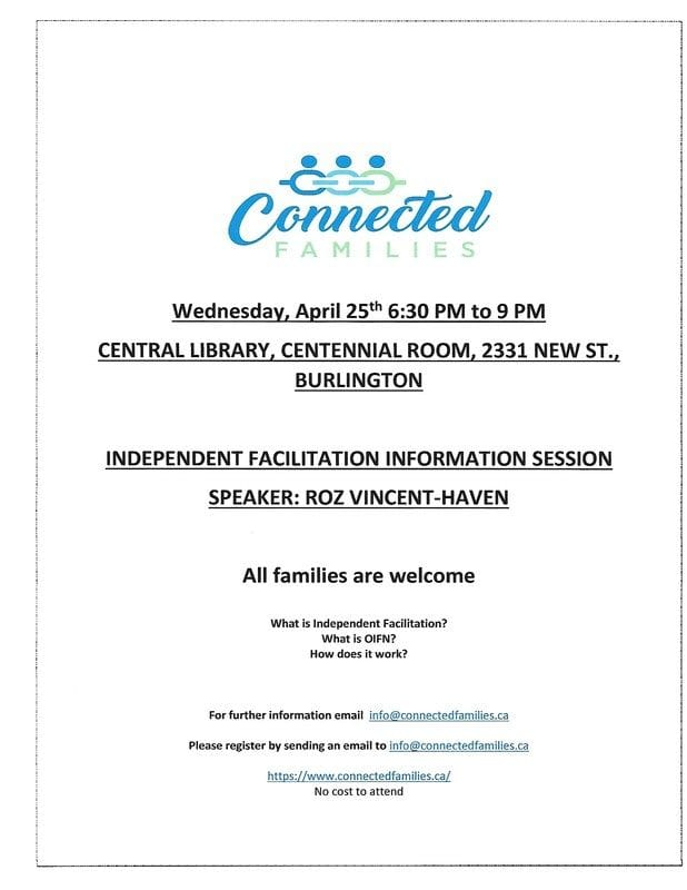 APRIL 25TH INFO SESSION...Independent Facilitation